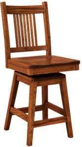 Centennial Hardwood Swivel Bar Stool