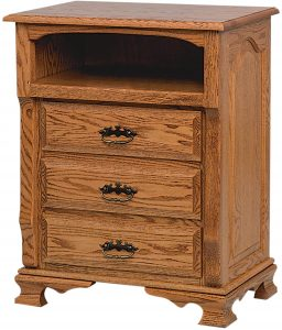 Classic Heritage Two Drawer Nightstand with Opening