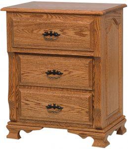 Classic Heritage Three Drawer Nightstand