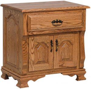 Classic Heritage Wood Two Door Nightstand