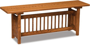 Classic Mission Wood Trestle Bench