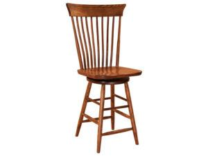 Concord Hardwood Swivel Bar Stool