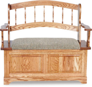 Country Spindle Wood Bench