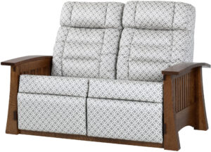 Craftsman Mission Style Wall Hugger Loveseat Recliner