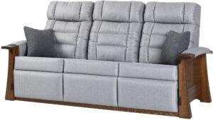 Craftsman Mission Style Wall Hugger Sofa Recliner