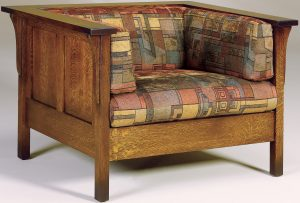 Cubic Hardwood Panel Chair