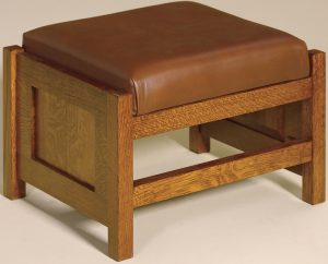 Cubic Paneled Footstool