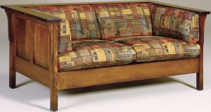 Cubic Hardwood Panel Loveseat