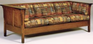 Cubic Hardwood Panel Sofa
