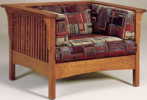 Cubic Slat Hardwood Chair