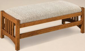 Cubic Slat Hardwood Footstool
