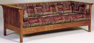 Cubic Slat Hardwood Sofa