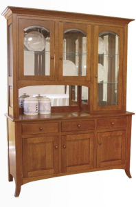Curve Shaker Amish Hutch