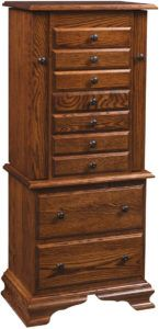 48 inch Deluxe Clockbase Jewelry Armoire