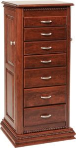 48 inch Deluxe Rope Twist Jewelry Armoire
