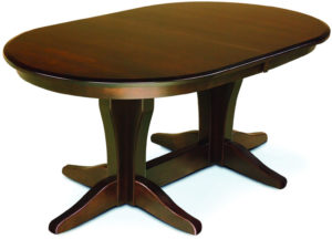 Vintage Double Pedestal Dining Table