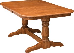 Dutch Double Pedestal Dining Table