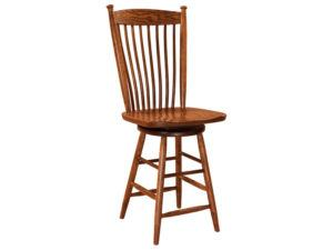 Easton Shaker Hardwood Swivel Bar Stool