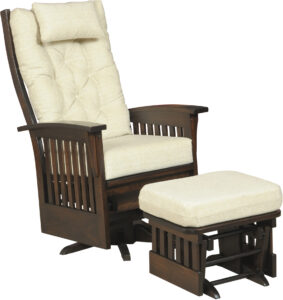 Finley Slat Style Deluxe Swivel Glider with Ottoman