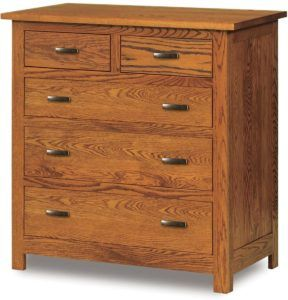 Flush Mission Five Drawer Child's Chest