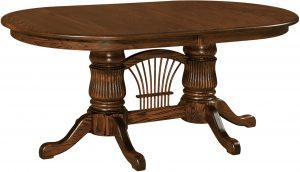 Double Fluted Pedestal Table
