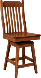 Franklin Hardwood Swivel Bar Stool