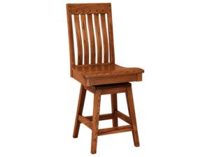 Fresno Hardwood Swivel Bar Stool