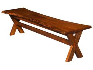 Frontier Live Edge Dining Bench