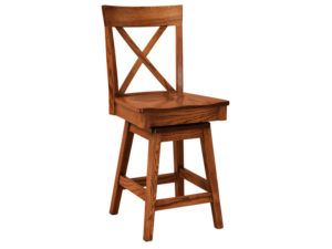 Frontier Hardwood Swivel Bar Stool