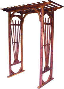 Cedar Decorative Garden Arbor