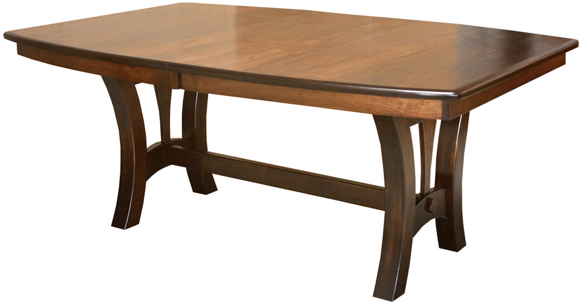Grand Isle Trestle Table Amish Grand Isle Trestle Table