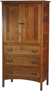 Granny Mission Hardwood Armoire