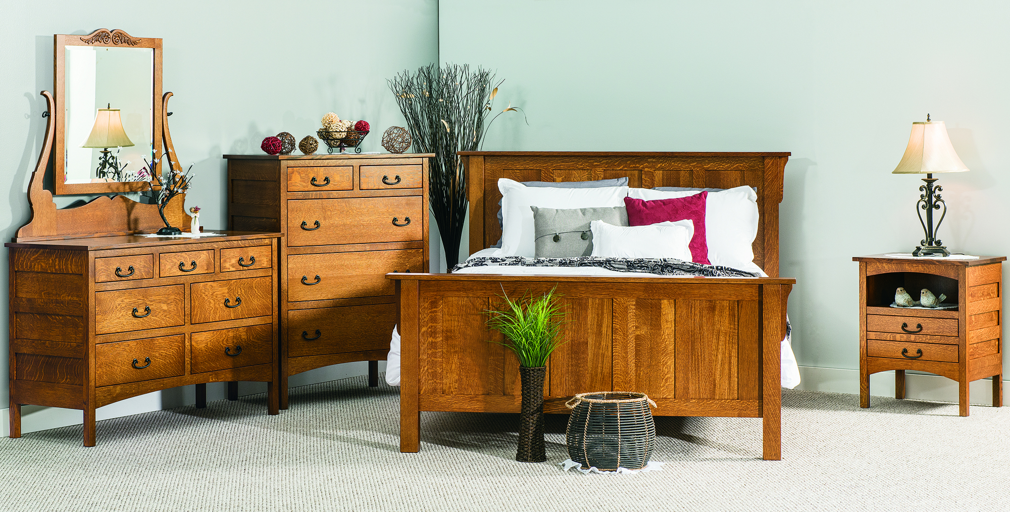 Amish Granny Mission Bedroom Collection