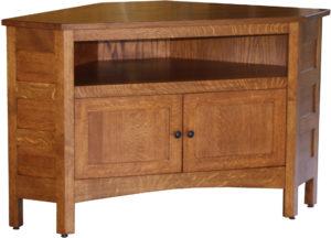 Granny Mission Hardwood Corner TV Cabinet