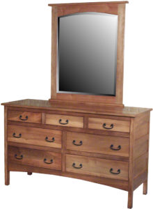 Granny Mission Seven Drawer Hardwood Dresser