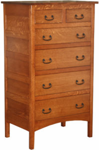 Granny Mission Six Drawer Hardwood Chest