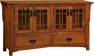 Greenwood Mission Four Door TV Cabinet