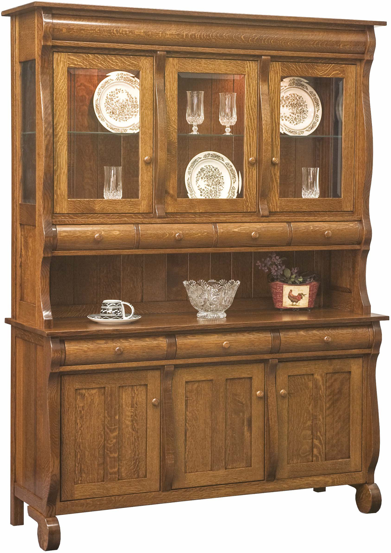 Hampton 3-Door Hutch