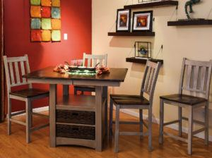 Heidi Cabinet Table Dining Room Set