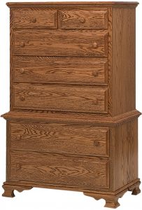 Heritage Wood Chest on Chest