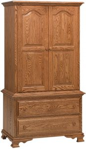 Heritage Chest on Chest Hardwood Armoire