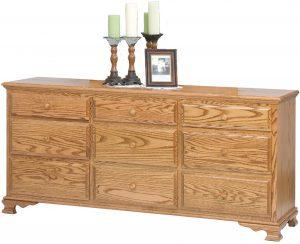 Heritage Wide Nine Drawer Dresser