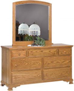 Heritage Hardwood Seven Drawer Dresser