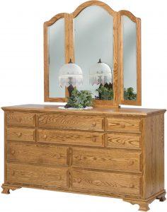 Heritage Ten Drawer Wood Dresser