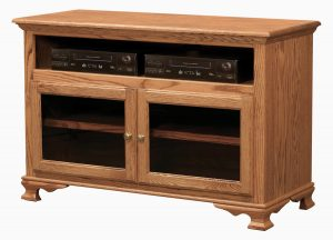 Heritage TV Unit with Glass Doors