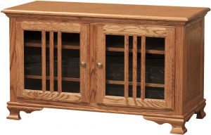 Heritage Two Glass Door TV Stand