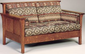 Highback Panel Hardwood Loveseat
