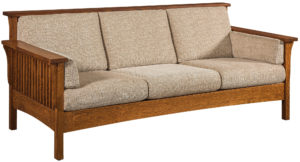 Highback Slat Hardwood Sofa