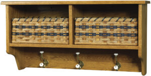 Holland Style Wall Shelf with Two Baskets