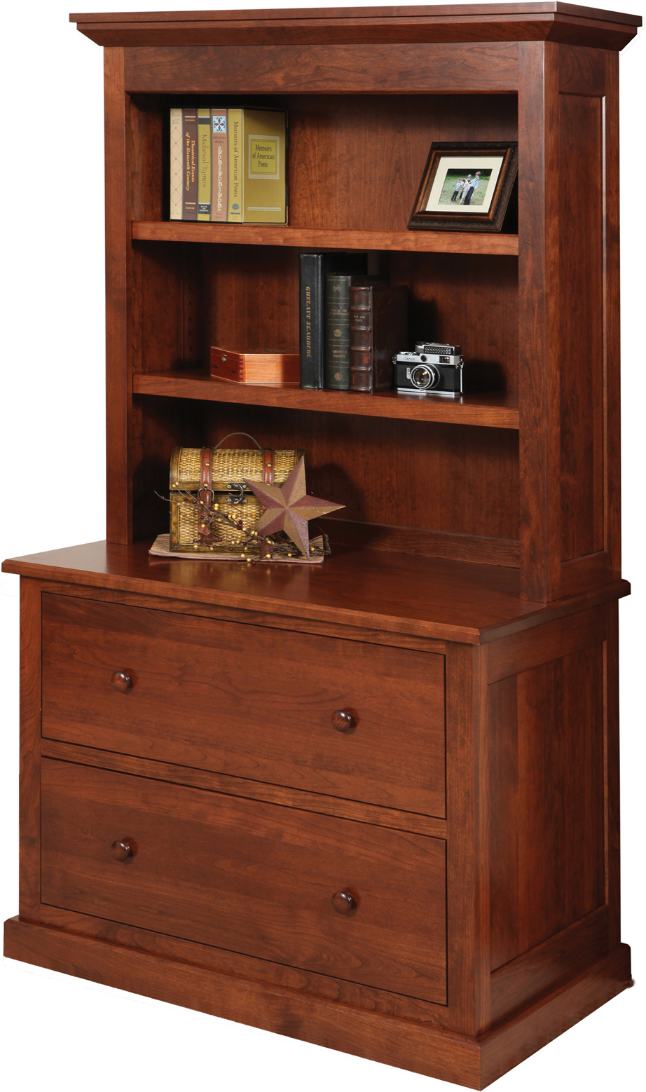 Homestead Lateral File Cabinet With Hutch Amish